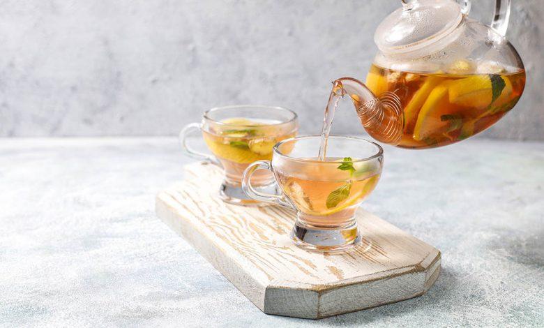 Thé à la menthe et citron