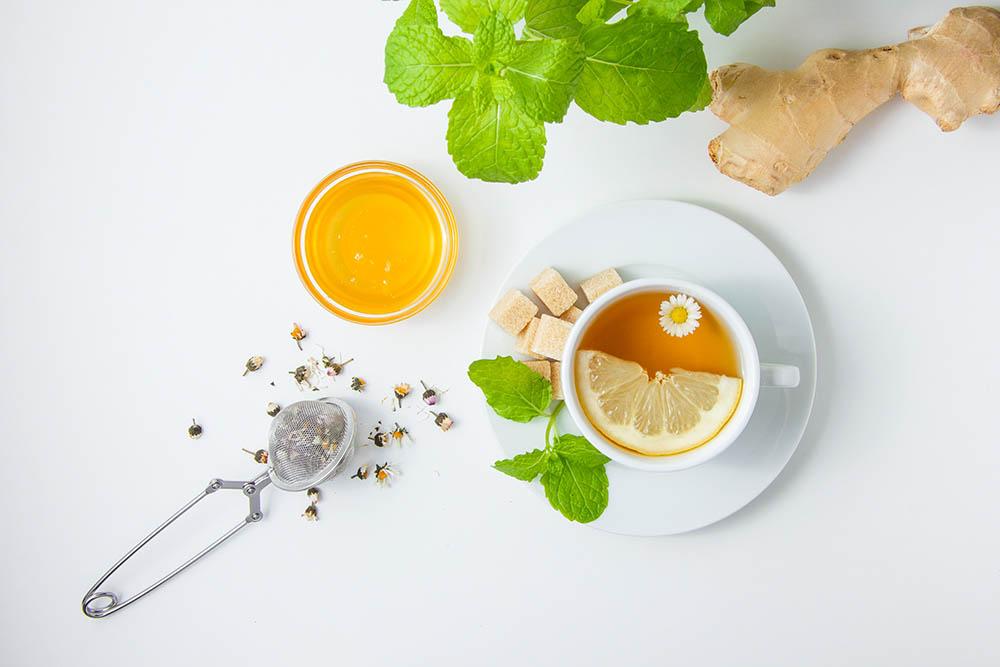Thé à la menthe et gingembre